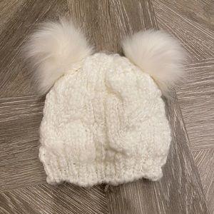 FREE Toddler Girls' Sparkly Pom Pom Winter Hat